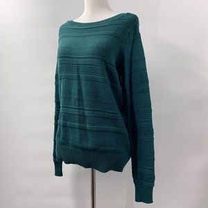 Ann Taylor LOFT Cable Knit Green Sweater size XS
